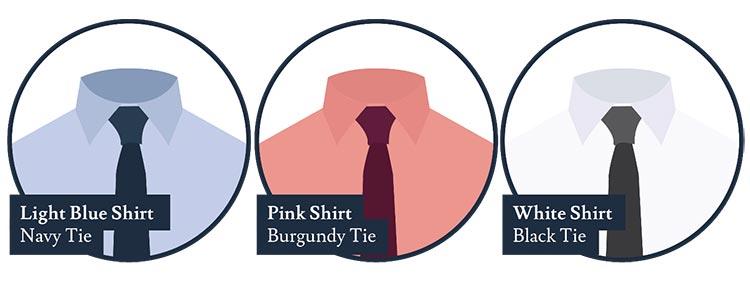 Coordonner les couleurs - Une chemise et un guide de cravate (2)