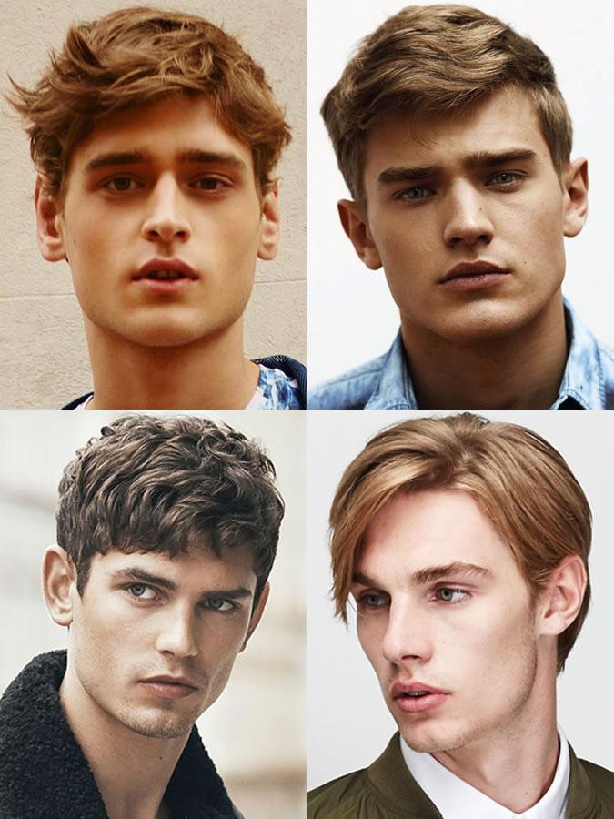 Coiffures / coupes de cheveux pour hommes pour les formes de visage en diamant