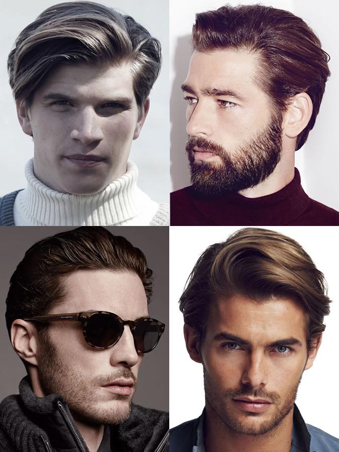 Coiffures / coupes de cheveux pour hommes pour les formes de visage en cœur