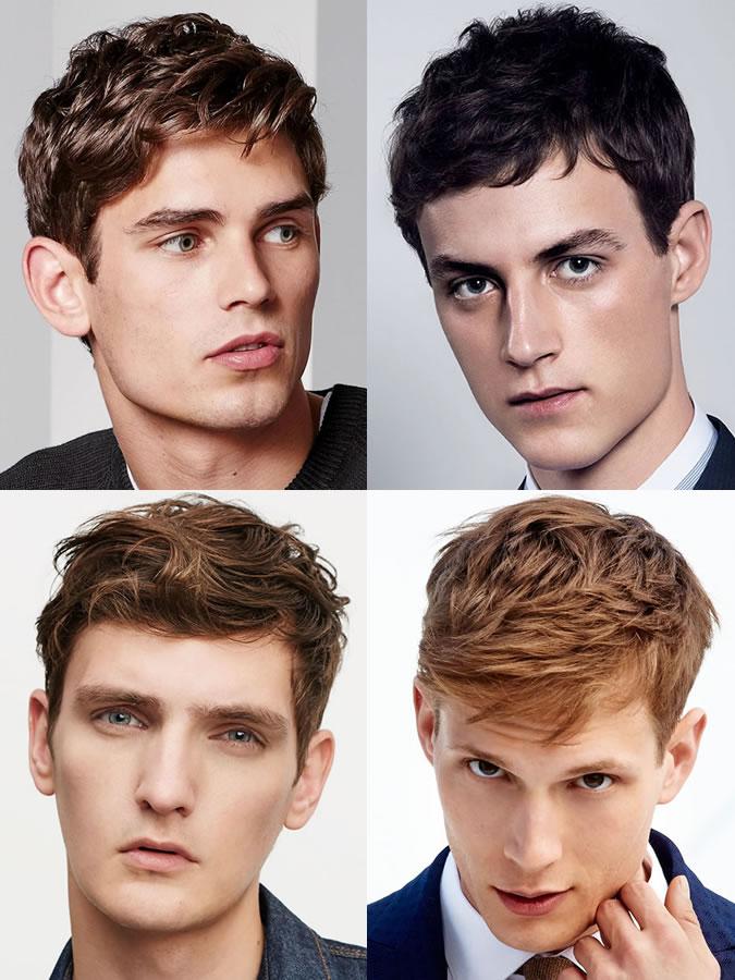 Coiffures/coupes de cheveux pour hommes pour les formes de visage oblong/rectangle