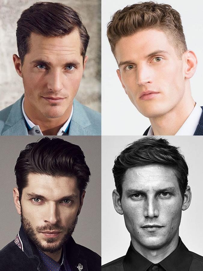 Coiffures / coupes de cheveux pour hommes pour les formes de visage ovales