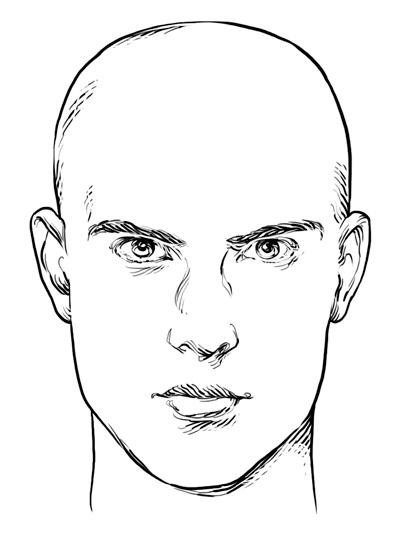 Forme de visage rectangulaire/oblong - Hommes
