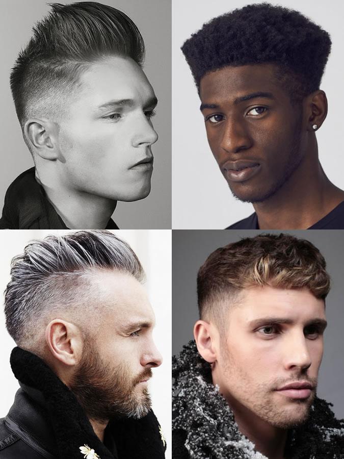 Coiffures / coupes de cheveux pour hommes pour les formes de visage rond