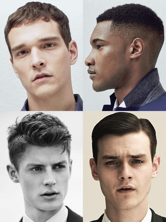 Coiffures / coupes de cheveux pour hommes pour les formes de visage carrées