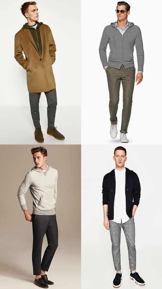 Sweats à capuche pour hommes avec un pantalon de tailleur inspiration lookbook