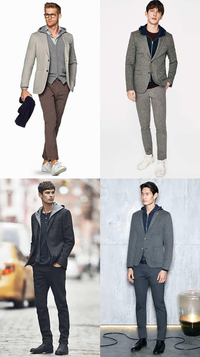 Sweats à capuche pour hommes avec tenue de couture Inspiration Lookbook